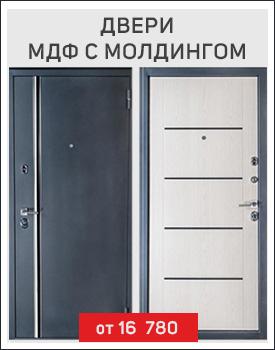 Металлические двери МДФ с молдингом