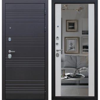 Металлическая входная дверь с зеркалом ДЗ-10