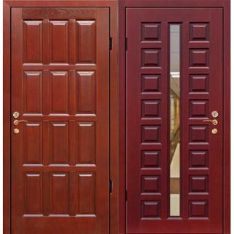 Металлическая входная дверь с зеркалом ДЗ-12