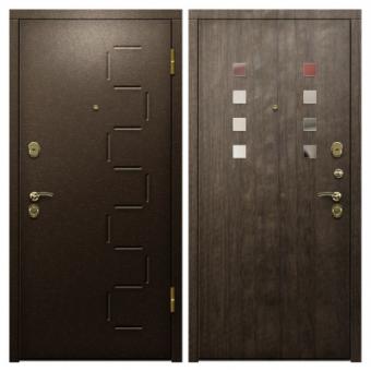 Металлическая входная дверь с порошковым напылением П-1