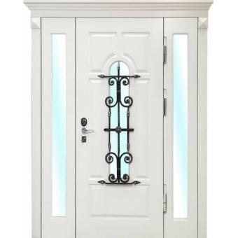 Металлическая дверь со стеклом С-1
