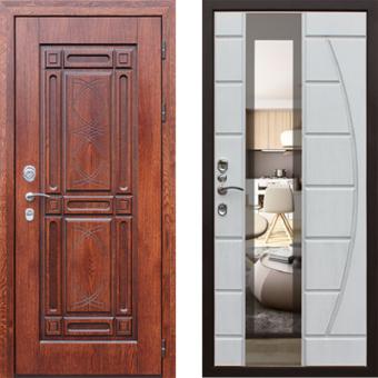 Металлическая входная дверь с зеркалом ДЗ-4