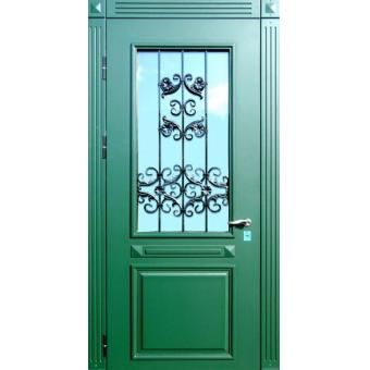 Металлическая дверь со стеклом С-5