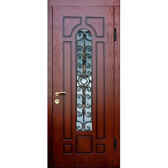 Металлическая дверь со стеклом С-6