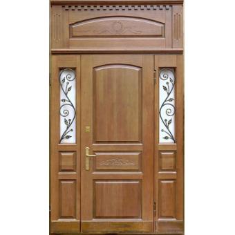Металлическая входная дверь массив дуба 23