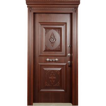 Металлическая входная дверь массив дуба 26
