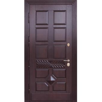 Металлическая входная дверь массив дуба 44