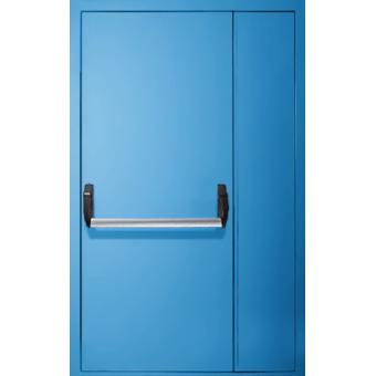 Дверь металлическая противопожарная ТПП6-двупольная со стеклом