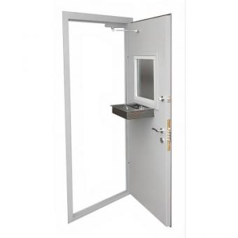 Кассовая дверь с лотком КАС-3