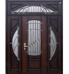 thumb_dver-pero Металлические двери с ковкой