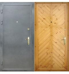 Входная дверь с  с отделкой из вагонки В-2