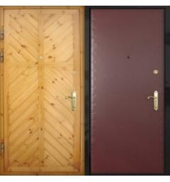 Входная дверь с отделкой из вагонки с 2-х сторон В-5