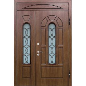 Металлическая дверь со стеклом С-7