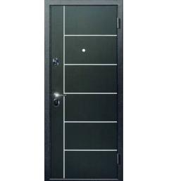 Входная металлическая дверь с молдингом МД-1