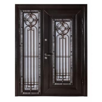 Металлическая дверь со стеклом С-3